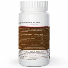 King nature reishi vida kaps 300 mg ganoderma lucidum spores bio ds 120 pcs