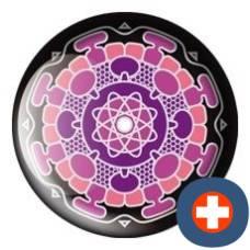Avantgarde energetic energy badge synaptico ruby
