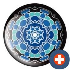 Avantgarde energetic energy badge synaptico sapphire