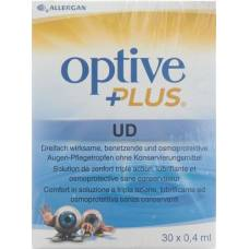 Optive plus ud eye care drops 30 monodos 0.4 ml