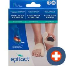 Epitact flexible double protective bandage correction hallux valgus day m 21.5-23cm right