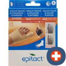 Epitact flexible double protective bandage correction hallux valgus tag l 23-24.5cm right