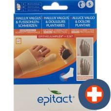 Epitact flexible double protective bandage correction hallux valgus tag s 20-21.5cm left