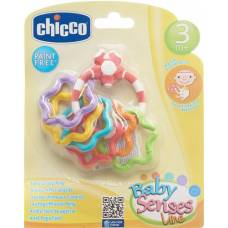 Chicco easy grip rattle colorful rings 3m +