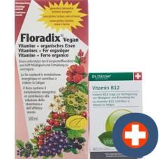 Floradix vegan 500ml + thin vegan vitamin b12 free