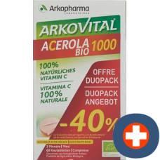 Arkovital acerola arkopharma tablets 1000 mg bio duo 2 x 30 pcs