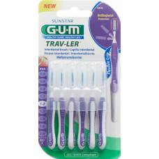 Gum sunstar proxabrush trav-ler iso standard 3 1.2mm cylindric violet 6 pcs