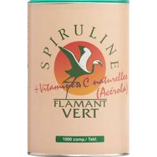 Spirulina flamant vert + acerola (vitamin c) tablets 500 mg 1000 copies