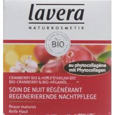 Lavera regenerating night cream 50ml cranberry