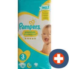 Pampers premium protection gr3 6-10kg midi sparpackung 50 pcs