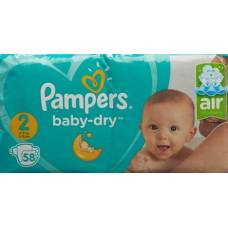 Pampers baby dry gr2 4-8kg mini economy pack 58 pcs