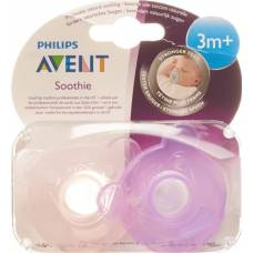 Avent philips soothie pacifier pink / purple 3-6 months 2 pcs