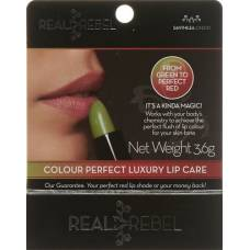 Real rebel luxury lip balm color perfect