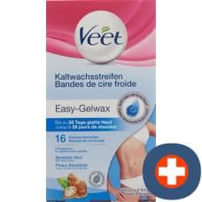 Veet cold wax strips for sensitive bikini area and underarms 8 x 2 pcs