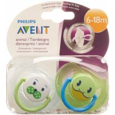 Avent philips soother animals 6-18 months boy 2 pcs