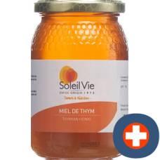 Soleil vie thyme honey 100% natural fl 500 g