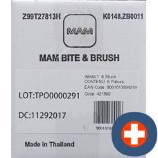 Mam bite & brush teether 3+ months carton assorted 6x1 piece