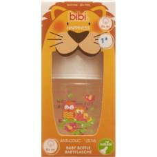 Bibi narrow neck bottle happiness pp natural silicone 120ml 0+ m play with us assorted sv-a + b new