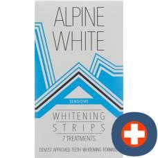 Alpine white whitening strips sensitive for 7 applications