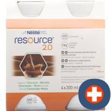 Resource 2.0 chocolate mint 4 x 200 ml