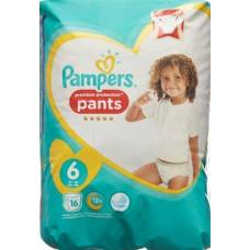 Pampers premium protection pants gr6 15 + kg extra large carrying pack 16 pcs