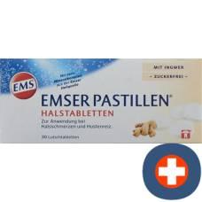 Emser pastilles sugar free with ginger 30 pcs