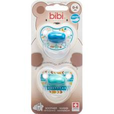 Bibi nuggi happiness dental silicone 0-6 m with ring trends duo main assorted sv-c