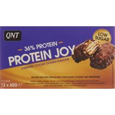 Qnt 36% protein joy bar low sugar caramel & cook 12 x 60 g
