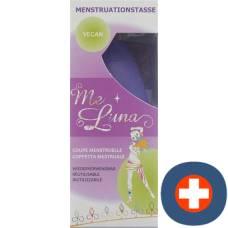 Me luna menstrual cup sports l ball blue violet