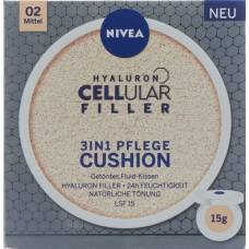 Nivea hyaluron filler cellular 3in1 care cushion means 15 ml
