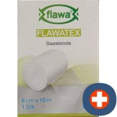 Flawa flawatex gauze bandage inelastic 6cmx10m