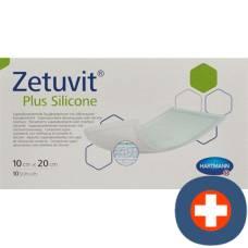 Zetuvit plus silicone 10x20cm 10 pcs