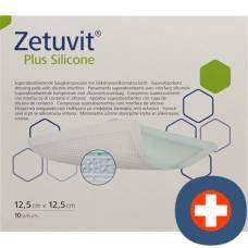 Zetuvit plus silicone 12.5x12.5cm 10 pcs