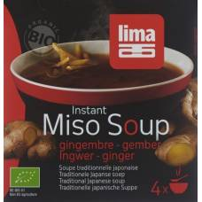 Lima miso soup instant ginger 4 x 15 g
