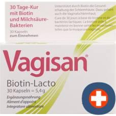Vagisan biotin-lacto cape 30 pcs