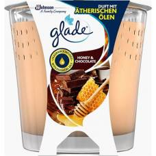 Glade scented candle honey & chocolate 129g glass