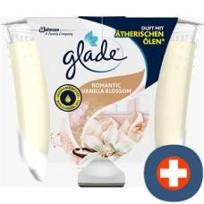 Glade premium scented candle romantic glass 224 g