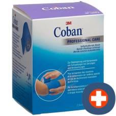 3m coban elastic bandage self-adhesive 7.5cmx4.5m blue