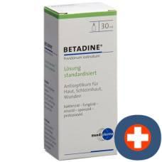 Betadine solution standardized lös fl 30 ml
