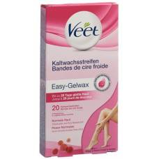 Veet cold wax strips for the legs and the body in normal skin 10 x 2 pcs