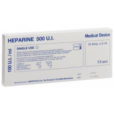 Heparin sintetica inj lös 500 iu 10 amp 5 ml