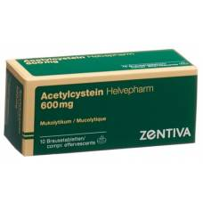 Acetylcysteine helvepharm brausetabl 600 mg of 10 pcs