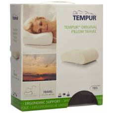 Tempur travel pillow 25x31x10cm reference suede gray