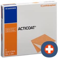 Acticoat wound dressing 5x5cm sterile 5 pcs