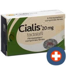 Cialis 20 mg filmtabl 8 pcs