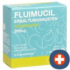 Fluimucil erkältungshusten lingual tablets 200 mg 20 pcs
