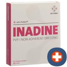 Inadine wound dressing 9.5x9.5cm sterile 10 btl