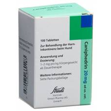 Caniphedrin tablets 20 mg animal treatment. 100 pcs