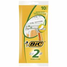 Bic 2 sensitive 2-blade razor for men 10 pcs