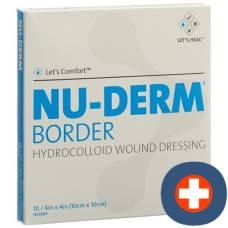 Nu-derm border hydrocolloid dressing 10x10cm sterile 10 pcs